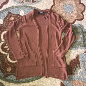 EUC FOREVER 21 CUTE BROWN CARDIGAN SWEATER SMALL